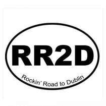 RR2D White Sticker