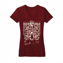 Red Juniors Vneck Tee